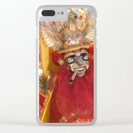 Oruro mask 4 Clear iPhone Case