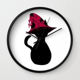 Spooky wizard cat! Wall Clock