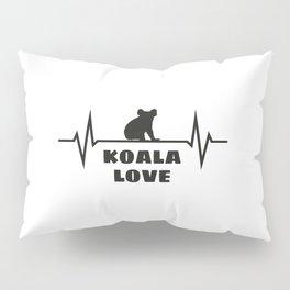 Koala Heartbeat Pillow Sham