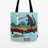 toddler Tote Bags featuring YYCFlood by KeliGirl