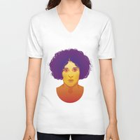 lana V-neck T-shirts featuring Lana by Esther Cerga