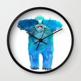 Yeti in the Morning Wall Clock