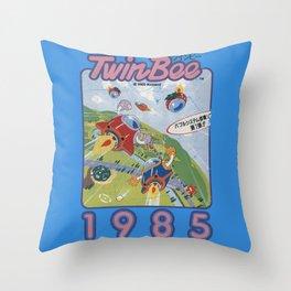 TwinBee Throw Pillow