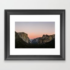 Yosemite Valley Sunset Framed Art Print