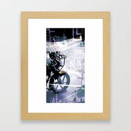 Retrollage 6.. Framed Art Print