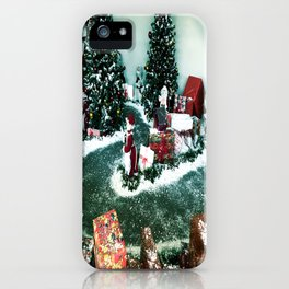 Santas Helpers In The Christmas Display iPhone Case