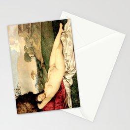 NUDE ART: Sleeping Venus by Giorgione Stationery Cards