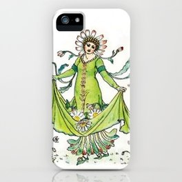Vintage Daisy Lady Goddess iPhone Case