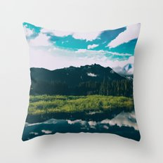 North Cascades Hidden Lake Throw Pillow
