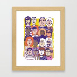 All the people Framed Art Print