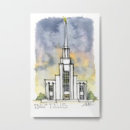 Twin Falls Idaho Temple Metal Print