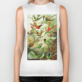 Kunstformen der Natur (Art Forms in Nature)a book of lithographic and halftones. Hummingbirds Biker Tank