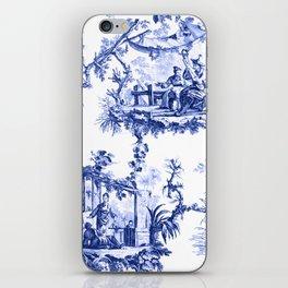 Blue Chinoiserie Toile iPhone Skin