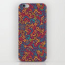 Happy Colourfulful Curles iPhone Skin