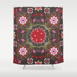 Beautiful Floral Mandala Shower Curtain