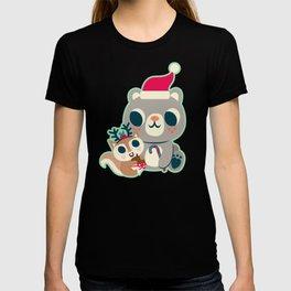 Holiday Woodland Animal Surface Pattern Design - Mint / Cute Animal T-shirt