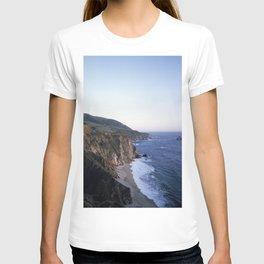 Pacific Ocean and rocky California coast T-shirt