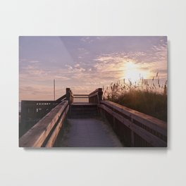 Beach Path Overlook Metal Print