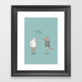 Wolf In Sheep's Clothing Framed Art Print