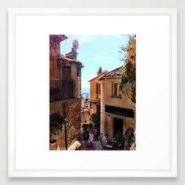Mountain Village in Eze, France Framed Art Print