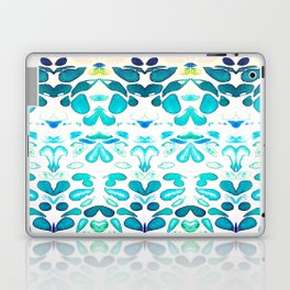 Memories of Summer, Bright Sea Blue and Yellow Laptop & iPad Skin