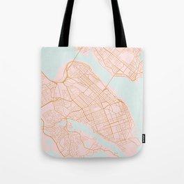 Halifax map, Canada Tote Bag