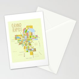 Grand Rapids Illustrated MAP Stationery Cards