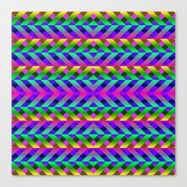 Rainbow Scaffolding Canvas Print