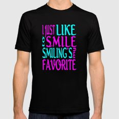 I Like Smiling Mens Fitted Tee Black MEDIUM