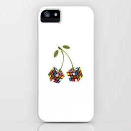 Cherry rubik iPhone Case
