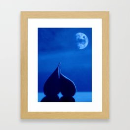 By The Light Of The Silvery Moon Framed Art Print