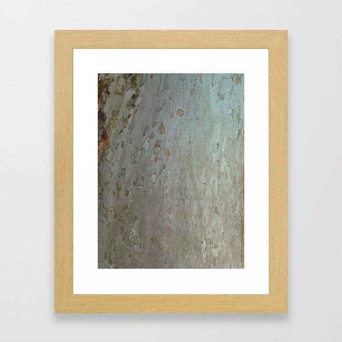 tree bark I. Framed Art Print