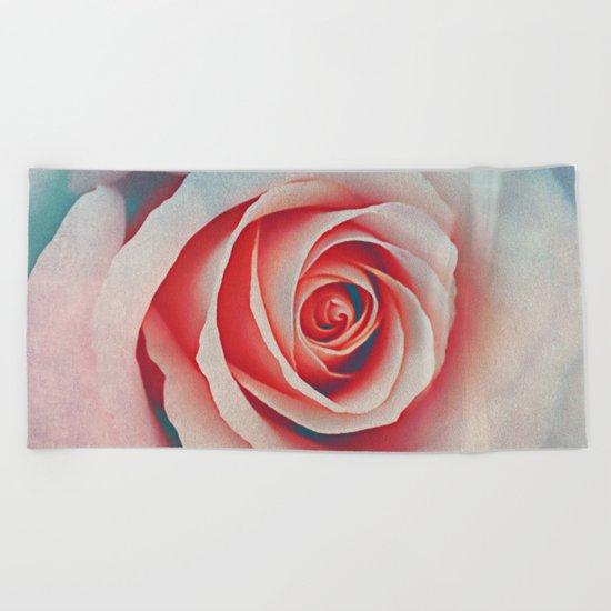 Romantic rose(7). Beach Towel