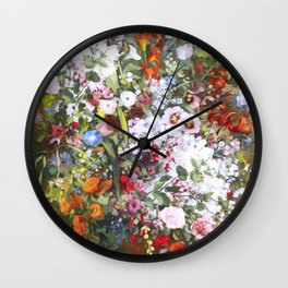 Spring riot of flowers - Courbet inspired Wall Clock