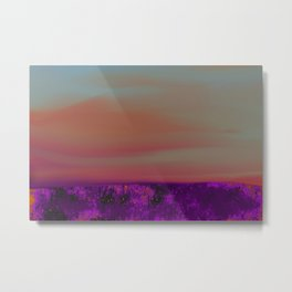 """Twilight Meadow"" (Peach/Violet) Digital Painting // Fine Art Print Metal Print"