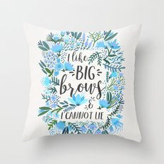 Big Brows – Blue Palette Throw Pillow