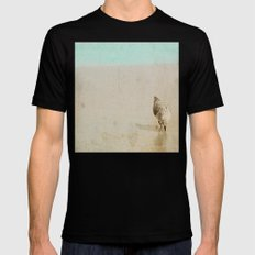Sandpiper Black MEDIUM Mens Fitted Tee