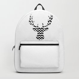 Zig Zag Modern Deer Head Backpack