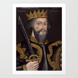 Vintage William The Conqueror Portrait Art Print
