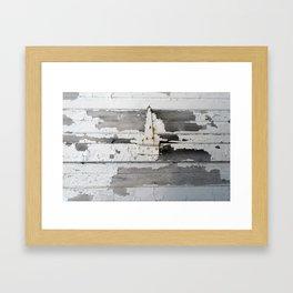 Hinge on Vintage Door Framed Art Print