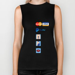 Girl, how would you like to pay? Biker Tank