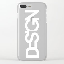 The black design Clear iPhone Case