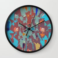 camo Wall Clocks featuring Camo by Lara Gurney
