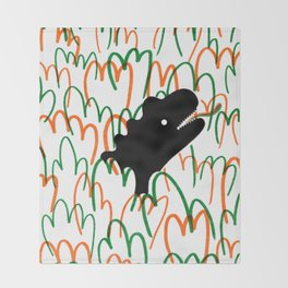 Jungle Dinosaur Throw Blanket