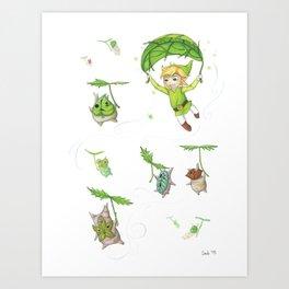 Link & the Koroks Art Print