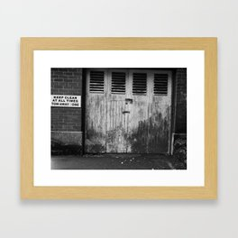 Keep Clear At All Times Framed Art Print