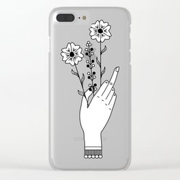 Middle Finger Clear iPhone Case