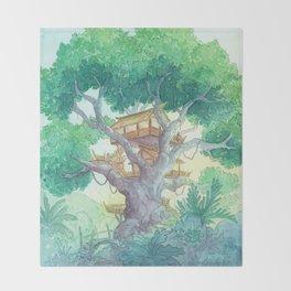 Tree Top Throw Blanket