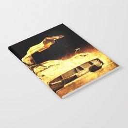 Pagani Huayra golden bat poster Notebook