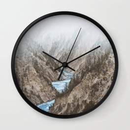 Mountain blue river Wall Clock